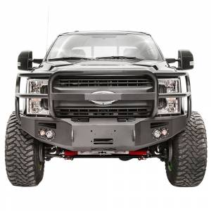 Fab Fours - Fab Fours FS17-A4150-1 Winch Front Bumper with Full Guard and Sensor Holes for Ford F250/F350 2017-2021