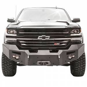 Fab Fours - Fab Fours CS16-F3851-1 Winch Front Bumper with Sensor Holes for Chevy Silverado 1500 2016-2018