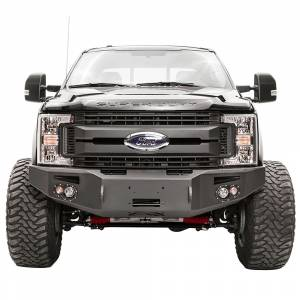 Fab Fours Front Bumper with No Grille Guard - Ford - Fab Fours - Fab Fours FS17-A4151-1 Winch Front Bumper with Sensor Holes for Ford F250/F350 2017-2020