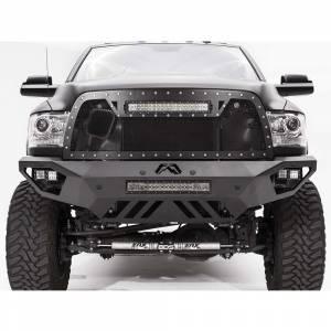 Dodge Ram 2500/3500 - Dodge RAM 2500/3500 2010-2018 Old Body - Fab Fours - Fab Fours DR16-V4051-1 Vengeance Front Bumper with Sensor Holes for Dodge Ram 2500/3500/4500/5500 2016-2018