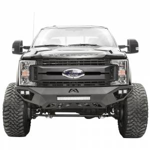 Fab Fours - Fab Fours FS17-V4151-1 Vengeance Front Bumper with Sensor Holes for Ford F250/F350 2017-2021