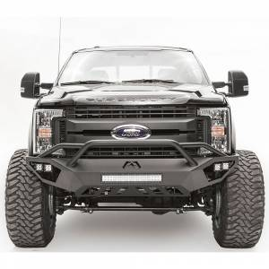 Fab Fours - Fab Fours FS17-V4152-1 Vengeance Front Bumper with Pre-Runner Guard and Sensor Holes for Ford F250/F350 2017-2021