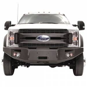 Fab Fours Front Bumper with No Grille Guard - Ford - Fab Fours - Fab Fours FS17-A4251-1 Winch Front Bumper with Sensor Holes for Ford F450/F550 2017-2019