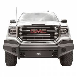 Fab Fours - Fab Fours GS16-R3961-1 Black Steel Elite Smooth Front Bumper for GMC Sierra 1500 2016-2018