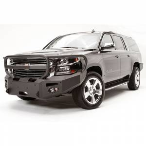 Fab Fours - Fab Fours CS15-F3550-1 Winch Front Bumper with Full Guard and Sensor Holes for Chevy Suburban 2015-2019 - Image 2