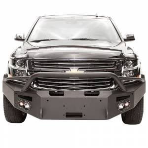 Fab Fours Front Bumper with Full Grille Guard - Chevy - Fab Fours - Fab Fours CS15-F3552-1 Winch Front Bumper with Pre-Runner Guard and Sensor Holes for Chevy Suburban 2015-2019