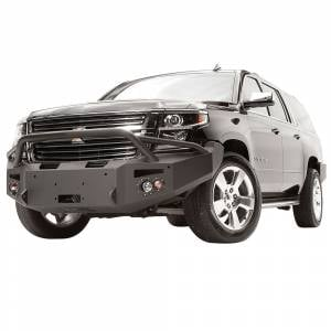 Fab Fours - Fab Fours CS15-F3552-1 Winch Front Bumper with Pre-Runner Guard and Sensor Holes for Chevy Suburban 2015-2019 - Image 2