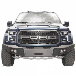 Fab Fours Front Bumper with No Grille Guard - Ford - Fab Fours - Fab Fours FF17-H4351-1 Winch Front Bumper for Ford Raptor 2017-2020