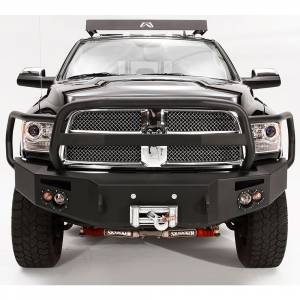 Fab Fours - Fab Fours DR10-A2950-1 Winch Front Bumper with Full Guard for Dodge Ram 2500/3500/4500/5500 2010-2018