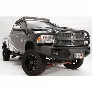 Fab Fours - Fab Fours DR10-A2950-1 Winch Front Bumper with Full Guard for Dodge Ram 2500/3500/4500/5500 2010-2018 - Image 2