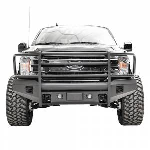 Fab Fours FF18-R4560-1 Black Steel Elite Smooth Front Bumper with Full Guard for Ford F150 2018-2020