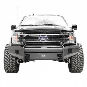Fab Fours FF18-R4561-1 Black Steel Elite Smooth Front Bumper for Ford F150 2018-2020