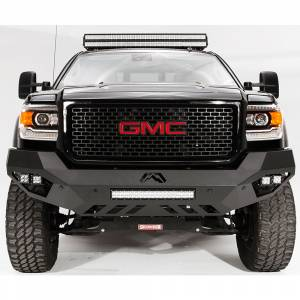 Fab Fours - Fab Fours GM11-V2851-1 Vengeance Front Bumper with Sensor Holes for GMC Sierra 2500/3500 2011-2014 - Image 1