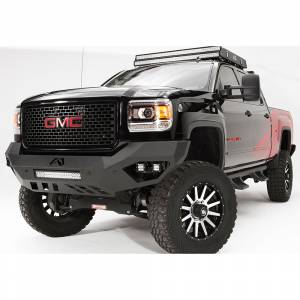 Fab Fours - Fab Fours GM11-V2851-1 Vengeance Front Bumper with Sensor Holes for GMC Sierra 2500/3500 2011-2014 - Image 2