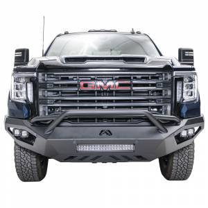 Fab Fours - Fab Fours GM11-V2852-1 Vengeance Front Bumper with Pre-Runner Guard and Sensor Holes for GMC Sierra 2500/3500 2011-2014 - Image 1