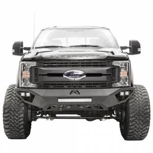 Shop Bumpers By Vehicle - Ford F450/F550 Super Duty - Fab Fours - Fab Fours FS11-V2651-1 Vengeance Front Bumper with Sensor Holes for Ford F450/F550 2011-2016