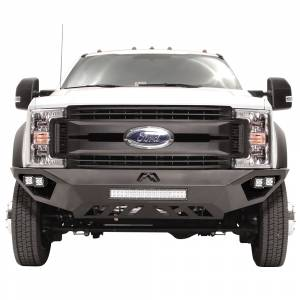 Shop Bumpers By Vehicle - Ford F450/F550 Super Duty - Fab Fours - Fab Fours FS17-V4251-1 Vengeance Front Bumper with Sensor Holes for Ford F450/F550 2017-2019