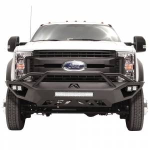 Shop Bumpers By Vehicle - Ford F450/F550 Super Duty - Fab Fours - Fab Fours FS17-V4252-1 Vengeance Front Bumper with Pre-Runner Guard and Sensor Holes for Ford F450/F550 2017-2019