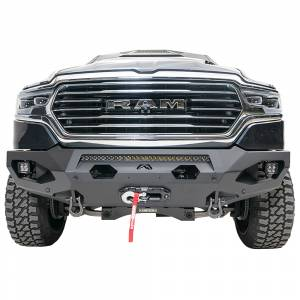 Clearance Bumpers - Fab Fours - Fab Fours DR19-X4251-1 Matrix Front Bumper with Sensor Holes for Dodge Ram 1500 2019-2020