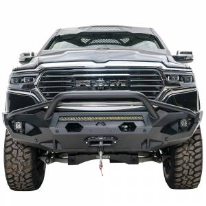Fab Fours - Fab Fours DR19-X4252-1 Matrix Front Bumper with Pre-Runner Guard and Sensor Holes for Dodge Ram 1500 2019-2020 - Image 1