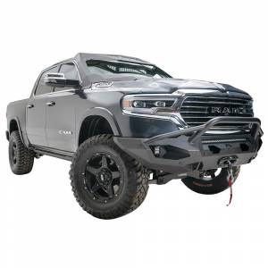Fab Fours - Fab Fours DR19-X4252-1 Matrix Front Bumper with Pre-Runner Guard and Sensor Holes for Dodge Ram 1500 2019-2020 - Image 3