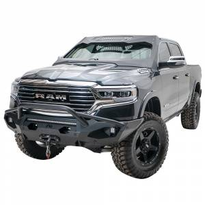 Fab Fours - Fab Fours DR19-X4252-1 Matrix Front Bumper with Pre-Runner Guard and Sensor Holes for Dodge Ram 1500 2019-2020 - Image 4