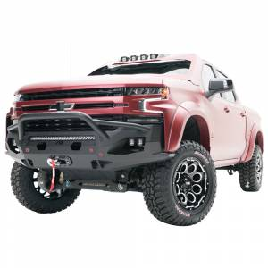 Fab Fours - Fab Fours CS19-X4052-1 Matrix Front Bumper with Pre-Runner Guard and Sensor Holes for Chevy Silverado 1500 2019-2020 - Image 2