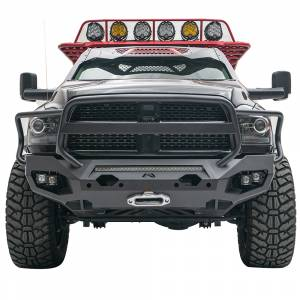 Dodge Ram 2500/3500 - Dodge RAM 2500/3500 2010-2018 Old Body - Fab Fours - Fab Fours DR10-X2950-1 Matrix Front Bumper with Full Guard and Sensor Holes for Dodge Ram 2500/3500/4500/5500 2010-2018