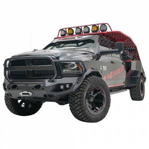 Fab Fours - Fab Fours DR10-X2950-1 Matrix Front Bumper with Full Guard and Sensor Holes for Dodge Ram 2500/3500/4500/5500 2010-2018 - Image 2