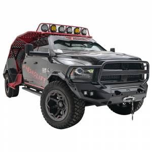 Fab Fours - Fab Fours DR10-X2950-1 Matrix Front Bumper with Full Guard and Sensor Holes for Dodge Ram 2500/3500/4500/5500 2010-2018 - Image 3
