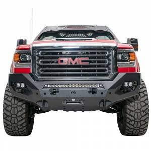 Fab Fours - Fab Fours GM15-X2851-1 Matrix Front Bumper with Sensor Holes for GMC Sierra 2500/3500 2015-2019 - Image 1