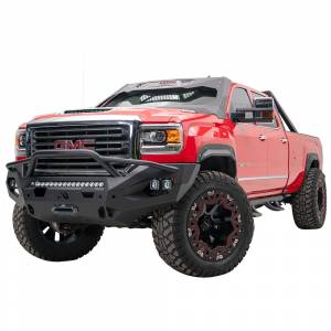 Fab Fours - Fab Fours GM15-X2852-1 Matrix Front Bumper with Pre-Runner Guard and Sensor Holes for GMC Sierra 2500/3500 2015-2019 - Image 2