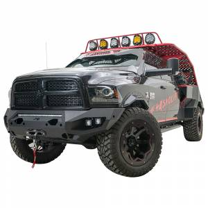 Fab Fours - Fab Fours DR19-X4451-1 Matrix Front Bumper with Sensor Holes for Dodge Ram 2500/3500 2019-2020 - Image 2
