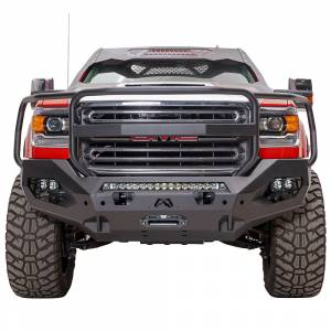 Fab Fours - Fab Fours GM15-X2850-1 Matrix Front Bumper with Full Guard and Sensor Holes for GMC Sierra 2500/3500 2015-2019 - Image 1