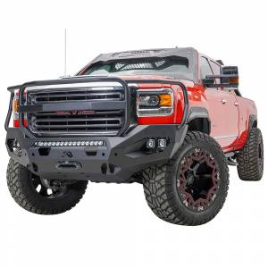 Fab Fours - Fab Fours GM15-X2850-1 Matrix Front Bumper with Full Guard and Sensor Holes for GMC Sierra 2500/3500 2015-2019 - Image 2