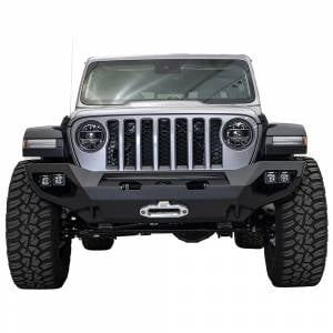Jeep Bumpers - Fab Fours - Fab Fours - Fab Fours JL18-X4651-1 Matrix Front Bumper for Jeep Gladiator JT 2018-2019