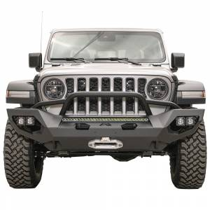 Jeep Bumpers - Fab Fours - Fab Fours - Fab Fours JL18-X4652-1 Matrix Front Bumper with Pre-Runner Guard for Jeep Gladiator JT 2020-2021