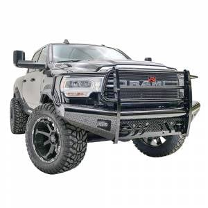 Fab Fours - Fab Fours DR19-S4460-1 Black Steel Front Bumper with Full Grille Guard for Dodge Ram 2500/3500 2019 - Image 2