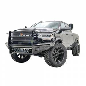 Fab Fours - Fab Fours DR19-S4460-1 Black Steel Front Bumper with Full Grille Guard for Dodge Ram 2500/3500 2019 - Image 3