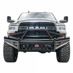 Fab Fours - Fab Fours DR19-S4462-1 Black Steel Front Bumper with Pre-Runner Guard for Dodge Ram 2500/3500 2019