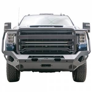 Fab Fours - Fab Fours GM20-X5050-1 Matrix Front Bumper with Full Guard and Sensor Holes for GMC Sierra 2500/3500 2020