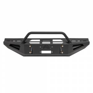 Fab Fours - Fab Fours DR06-RS1162-1 Red Steel Front Bumper with Pre-Runner Guard for Dodge Ram 2500/3500/4500/5500 2006-2009