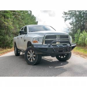 Fab Fours - Fab Fours DR10-RS2962-1 Red Steel Front Bumper with Pre-Runner Guard for Dodge Ram 2500/3500/4500/5500 2010-2018