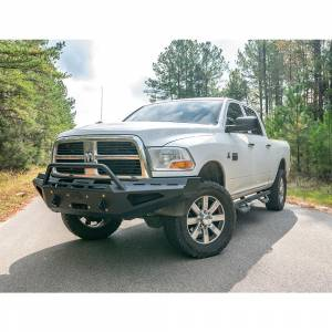 Fab Fours - Fab Fours DR10-RS2962-1 Red Steel Front Bumper with Pre-Runner Guard for Dodge Ram 2500/3500/4500/5500 2010-2018 - Image 3