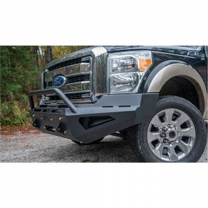 Fab Fours FS11-RS2562-1 Red Steel Front Bumper with Pre-Runner Guard for Ford F250/F350/F450/F550 2011-2016