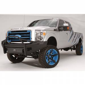 Fab Fours FS11-Q2562-1 Black Steel Elite Smooth Front Bumper with Pre-Runner Guard for Ford F250/F350/F450/F550 2011-2016