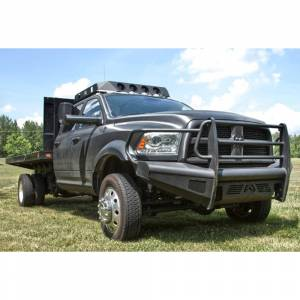 Fab Fours - Fab Fours DR10-Q2960-1 Black Steel Elite Smooth Front Bumper with Full Guard for Dodge Ram 2500/3500/4500/5500 2010-2018 - Image 4