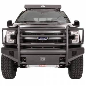 Fab Fours - Fab Fours FF09-R1960-1 Black Steel Elite Smooth Front Bumper with Full Guard for Ford F150 2009-2014 - Image 2