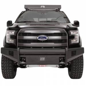 Fab Fours - Fab Fours FF09-R1961-1 Black Steel Elite Smooth Front Bumper for Ford F150 2009-2014 - Image 2
