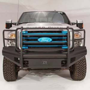 Fab Fours - Fab Fours FS08-Q1960-1 Black Steel Elite Smooth Front Bumper with Full Guard for Ford F250/F350 2008-2010 - Image 2